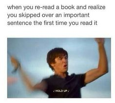 When you re-read a book and realize you skipped over an important sentence the f… - Book lovers Hamilton Musical, Alexander Hamilton, Fandoms Unite, Funny Relatable Memes, Funny Jokes, Hilarious, I Love Books, Books To Read, Haikyuu