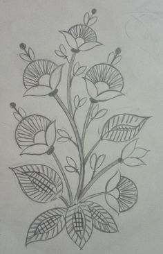 29 Ideas embroidery leaf pattern book design for 2019 Embroidery Flowers Pattern, Paper Embroidery, Learn Embroidery, Hand Embroidery Stitches, Hand Embroidery Designs, Embroidery Techniques, Machine Embroidery, Arte Art Deco, Dress Design Drawing