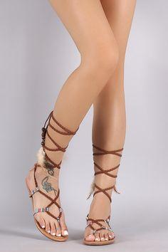dacd45c48af8  Valentines  AdoreWe  Lulus -  Lulus Micah Nude Lace-Up Flat Sandal Heels -  Lulus - AdoreWe.com