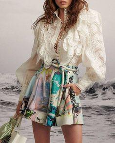 New Year Solid Casual V-Neckline Long Sleeve Blouses Flare Sleeve Crop Knit Black Women's summer fashion, fashion, eyewear, sunglasses. Mori Fashion, Fashion Dresses, Chic Outfits, Trendy Outfits, Moda Chic, High Fashion, Womens Fashion, Mode Inspiration, Passion For Fashion