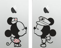Disney Mickey Minnie Mouse Wall Decal Sticker Peeking Winking - Disney custom vinyl stickers