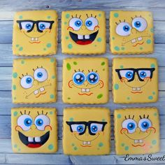 "3,791 Likes, 51 Comments - Emma's Sweets (Mary) (@_emmas__sweets) on Instagram: ""SpongeBob to brighten this Monday morning! ☀️ #emmassweets #cookies #spongebob…"""