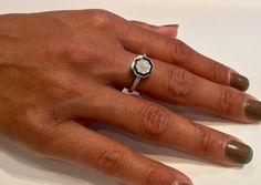 Art deco ring engaement ring trouwring belofte door bennybenjewelry