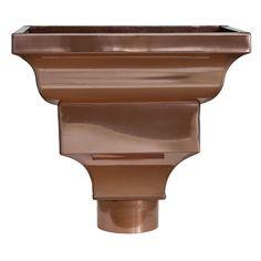 Straightline Copper Leaderhead Copper Leaderheads Aka