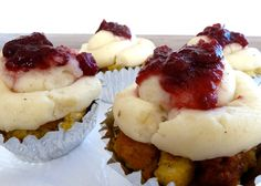 Food Design: Thanksgiving Cupcakes Made From Turkey & Stuffing