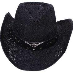 4ef90e22bdd Unisex Western Cowboy   Cowgirl Straw Banded Hat - Beige (Black)