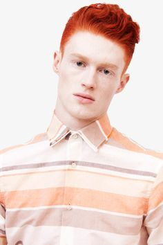 London based design duo Baartmans and Siegel created a luxurious Spring/Summer 2012 collection, featuring stand-out textures and sharp tailoring. Reddish Hair, Red Hair, Ginger Head, Ginger Guys, Beautiful Men, Beautiful People, Mens Hair Colour, Redhead Men, Hottest Redheads