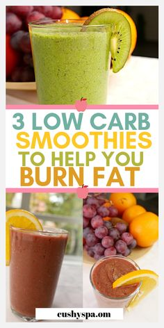 Healthy Smoothies Sharing 3 low carb smoothies for fat loss. Burn fat with these low carb recipes. Smoothie Low Carb, Smoothie Vert, Healthy Smoothies, Healthy Drinks, Healthy Cleanse, Smoothie King, Healthy Eating, Cleanse Diet, Body Cleanse