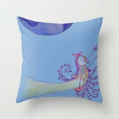Throw pillow for sweet dreams Sweet Dreams, Illustration Art, Tapestry, Throw Pillows, Art Prints, Fun, Design, Hanging Tapestry, Art Impressions