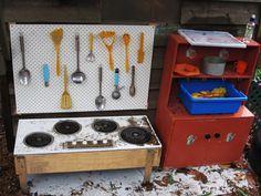 Our mud-pie kitchen