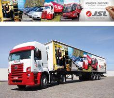 Sider caminhão para feira Intermodal 2014 / JSL