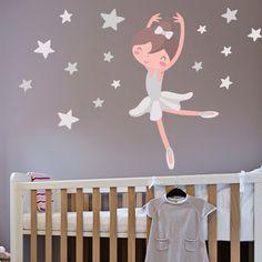 Vinilo bailarina para una habitación temática de Ballet