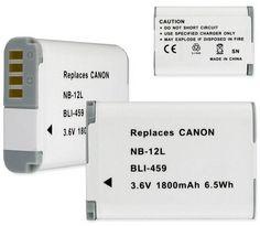 Empire Scientific BLI-459 Canon Nb-12L 3.6V 1800Mah Li-Ion Replacement