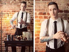 Brooks Brothers Suspenders, H Shirt | Barkeep (by Bobby Hicks) | LOOKBOOK.nu