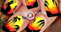 Art neon Nail designs or nail art is a categorically easy. Beach Nail Art, Neon Nail Art, Nail Art Diy, Neon Nails, Simple Nail Art Designs, Best Nail Art Designs, Diy Rainbow Nails, Tiger Nail Art, Nail Art Inspiration