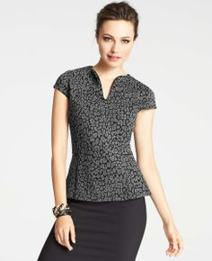 Animal Print: Enjoy 40% off everything for Trends with Benefits (use code TRENDS40) - Leopard Jacquard Top