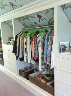 Utilize closet space in MB
