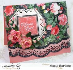 Scrap, Travel, and Bark! A card made with the gorgeous Mon Amour collection.