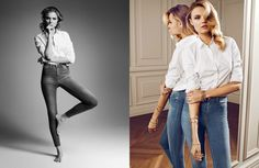Magdalena Frackowiak Dons Denim for Gina Tricot by Hasse Nielsen
