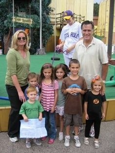 Mitt and Ann Romney enjoying some time with their grandchildren.