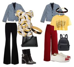 """""""A Houndstooth Blazer"""" by itskellyly on Polyvore featuring Alfani, Gareth Pugh, Louis Vuitton, Tory Burch, Charlotte Olympia and plus size clothing"""