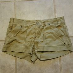 AE shorts Only worn once.  Tan shorts in great shape. American Eagle Outfitters Shorts
