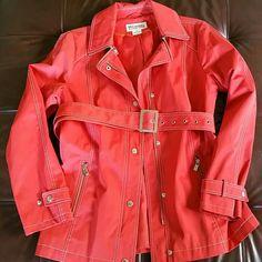 Micheal Kors - It's almost rain season Burnt orange with unique zippers. Never worn. MICHAEL Michael Kors Jackets & Coats