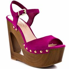 Jessica Simpson wood wedges
