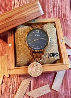 JORD Wood Watch Review - Men's and Women's watches made from zebrawood with a swiss movement. Timeless unique wood watches perfect for any occasion