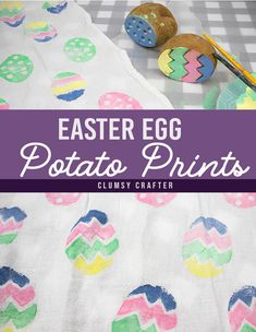 Simple Easter craft that you can make with a potato! Learn how to make these simple DIY Easter Egg Potato Prints. Easy Easter Crafts, Easy Crafts, Crafts For Kids, Potato Print, Making Easter Eggs, Polymer Clay Tools, Acrylic Craft Paint, Fabric Painting, Creative Crafts