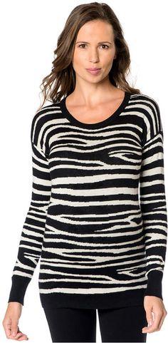 747da5a9627 A Pea In The Pod Maternity Animal-Print Silk-Cashmere Sweater Maternity  Sweater,