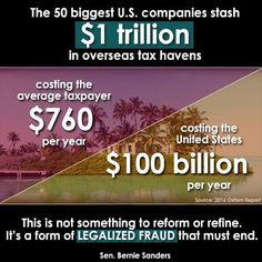 This is not something to reform or refine.  It's a form of legalized fraud that must end.  #BernieSanders