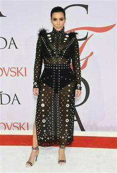 Kim Kardashian West wears sheer Proenza Schoeler dress 2015