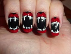 Some funky halloween nails!