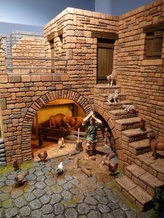 old egyptian house model Diy Nativity, Christmas Nativity Scene, Christmas Villages, Christmas Diy, Nativity Scenes, Ancient Egyptian Cities, Ancient Egyptian Architecture, Modelos 3d, Creation Deco