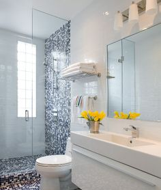 Blue And White Bathroom Design, Pictures, Remodel, Decor and Ideas