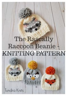 58 New ideas knitting loom animals baby hats Knitting Terms, Knitting For Kids, Baby Knitting Patterns, Loom Knitting, Free Knitting, Knitting Projects, Knitting Designs, Knitted Owl, Beanie Babies