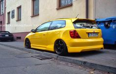 Honda civic type R EP3 Yellow