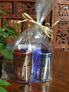 Two Moroccan tea glasses gift set. http://www.maroque.co.uk/showitem.aspx?id=ENT00992&p=00734&n=all