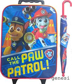 Paw Patrol Childrens Travel Luggage Gift Set With Paw Patrol Umbrella >>> You can get more details by clicking on the image.