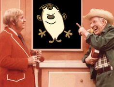 Captain Kangaroo and Mr. Greenjeans--and Fred!