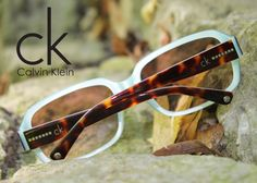 dd0f3ed6fef Brown tortoise temples and a teal front make these  sunglasses from the CK  collection stand