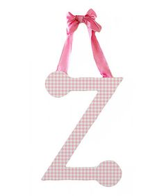 Would be cute for letters :):) Look at this #zulilyfind! Pink Gingham Letter by New Arrivals #zulilyfinds