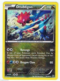 Pokemon Card XY Flashfire Rare Reverse Holo Druddigon 70/106 FREE COMBINED SHIP see more of our cads for sale at http://stores.ebay.com/DDs-Pokemon-Card-and-Gift-Shop