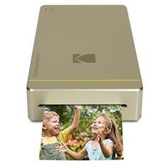 Buy Kodak Mini Portable Mobile Instant Photo Printer - Wi-Fi & NFC Compatible - Wirelessly Prints x Images, Advanced DyeSub Printing Technology (Gold) Compatible with Android & iOS at Discounted Prices ✓ FREE DELIVERY possible on eligible purchases. Best Portable Photo Printer, Compact Photo Printer, Mobiles, Mobile Photo Printer, Wifi, Smartphone Printer, Kodak Photos, Hp Sprocket, Photos