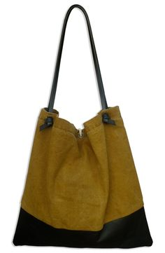 Image of CANVAS & LEATHER TOTE BAG