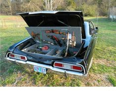 The trunk weapons cache, I need one of these.  Courtesy of Supernatural TV show.