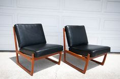 Danish Modern Lounge Chairs by Peter Hvidt and Orla Molgaard Nielsen