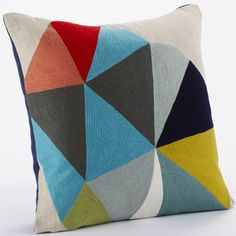 Color Wheel Pillow by Coyuchi
