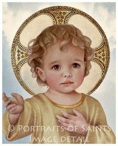 Savior of the World Infant Jesus 8x10 by PortraitsofSaints on Etsy, $12.00